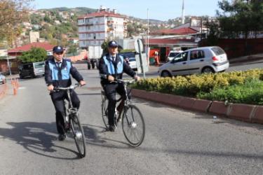 Bisikletli Zabıtalar Yokuş Dinlemiyor