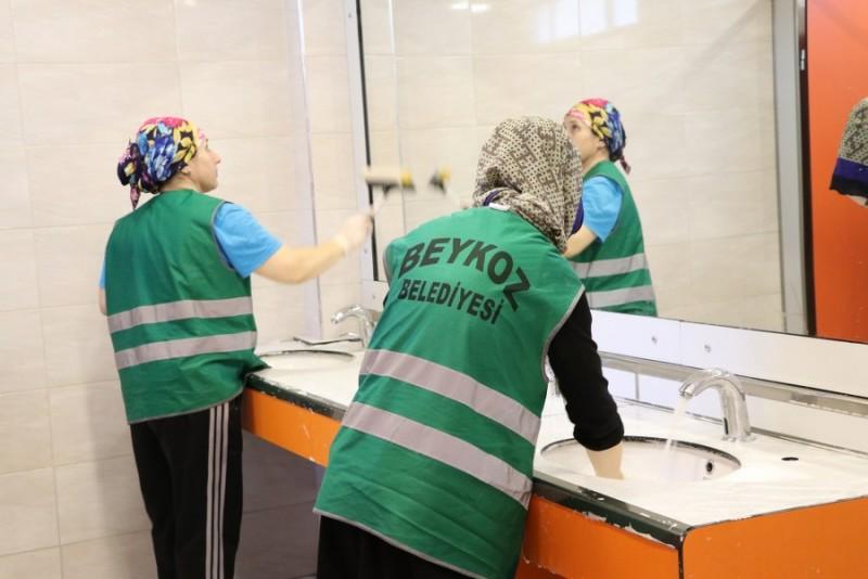 Beykoz'da Okul Lavaboları Tertemiz